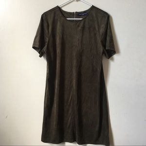 NWOT One Clothing Army Green Velvet T-shirt Dress